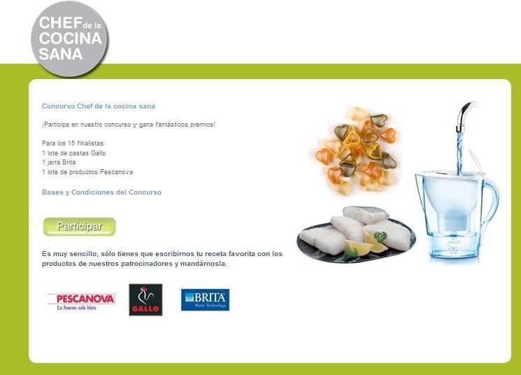 Concurso Chef de la cocina sana
