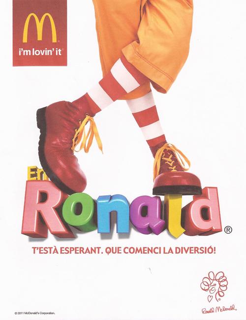 Ronald McDonald en Diagonal Mar