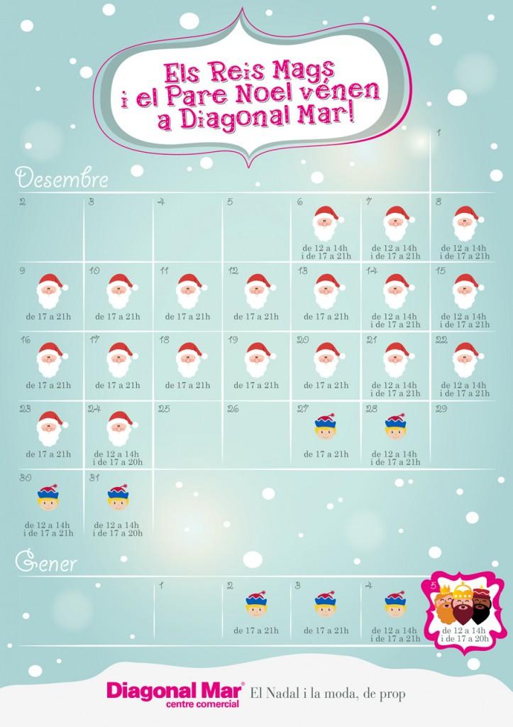 Calendario de Navidad en Diagonal Mar