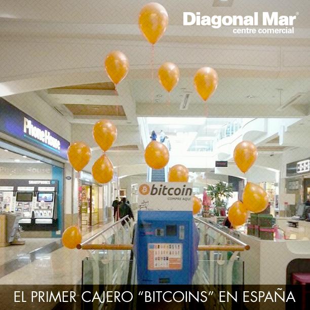 """Primer cajero """"bitcoins"""" en España"""