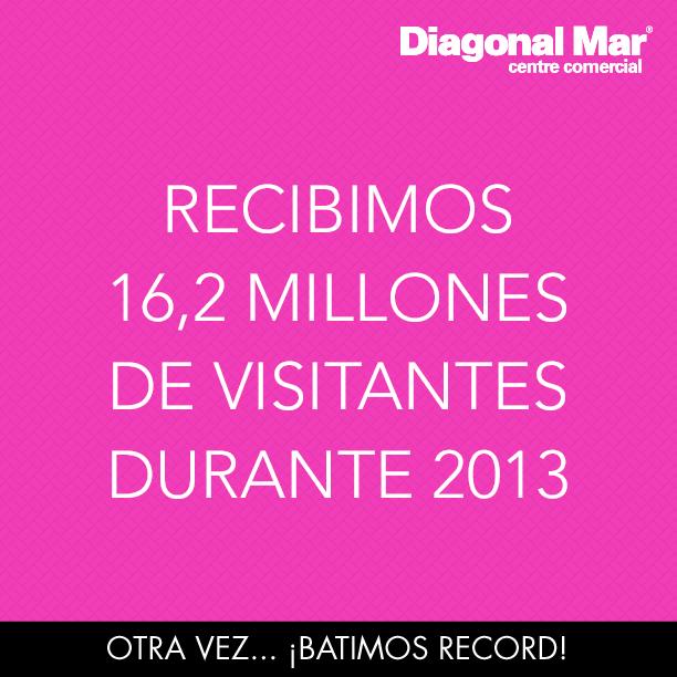 En 2013 otra vez Diagonal Mar bate record
