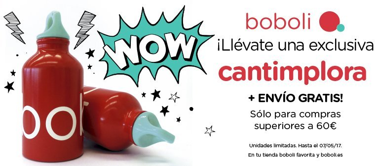 ¡Llévate una cantimplora Bóboli de regalo por cada compra superior a 60€!