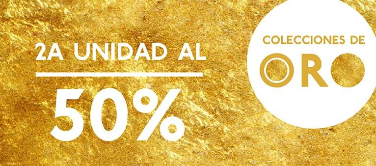 2a unidad al 50% en las colecciones de oro