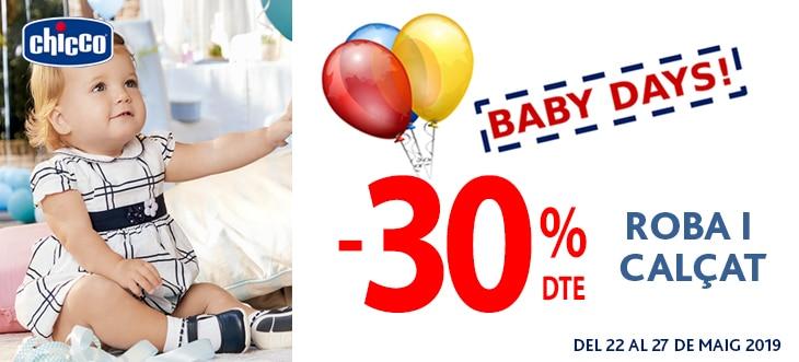 Baby days! -30% dte en roba i calçat