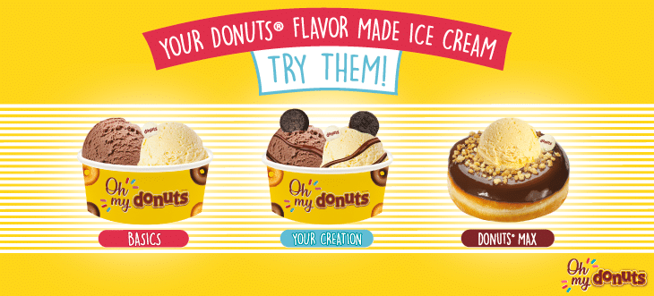 New ice cream with Donuts® flavor