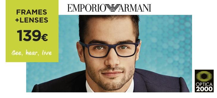 Frame + lenses 139€ – Emporio Armani