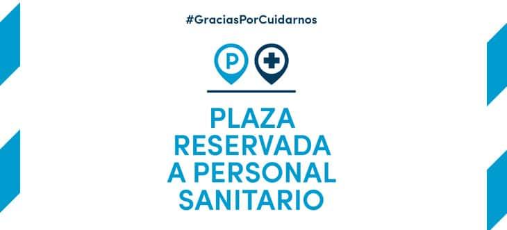 Places de pàrquing reservades pel personal sanitari