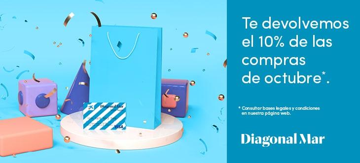 Consigue el 10% de tus compras en Diagonal Mar
