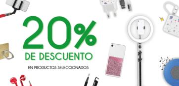 20% de descuento en productos seleccionados