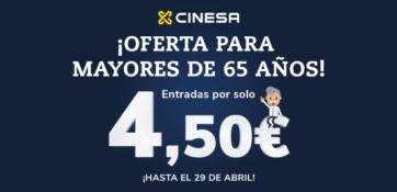¡Entrada a 4,50€ para mayores de 65 años!