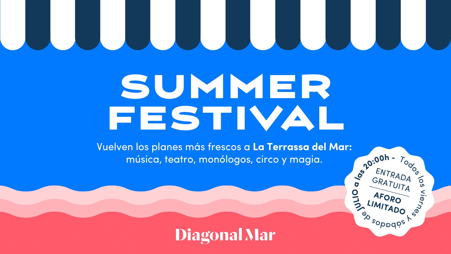 Summer festival diagonal